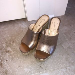 Jessica Simpson Shoes - Jessica Simpson Rose Gold Wedges